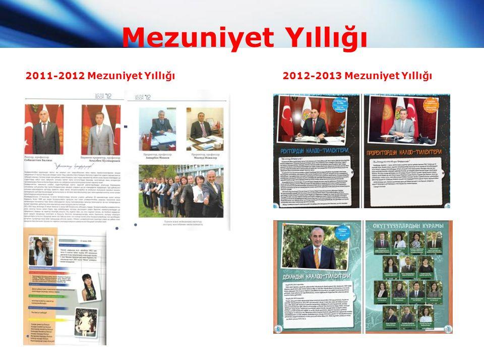 Mezuniyet Yıllığı 2011-2012 Mezuniyet Yıllığı2012-2013 Mezuniyet Yıllığı