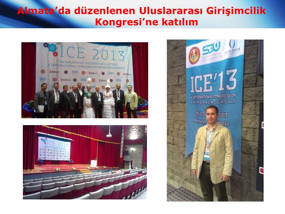 Almata'da düzenlenen Uluslararası Girişimcilik Kongresi'ne katılım