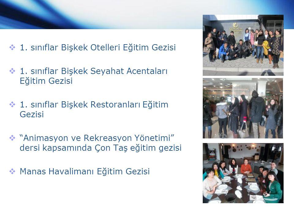  1. sınıflar Bişkek Otelleri Eğitim Gezisi  1.