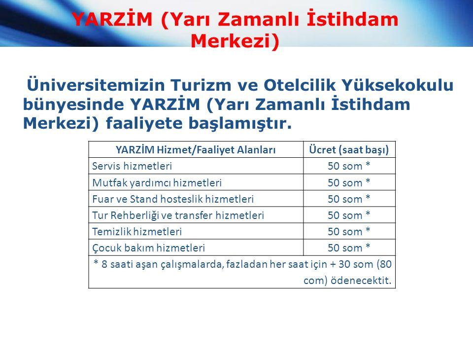 YARZİM (Yarı Zamanlı İstihdam Merkezi) Üniversitemizin Turizm ve Otelcilik Yüksekokulu bünyesinde YARZİM (Yarı Zamanlı İstihdam Merkezi) faaliyete başlamıştır.