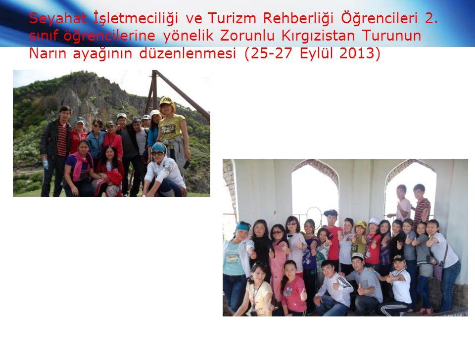 Seyahat İşletmeciliği ve Turizm Rehberliği Öğrencileri 2.