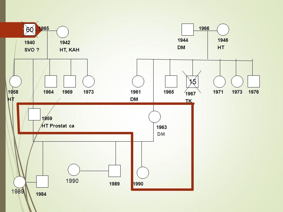 DM 10 60 15 1959 HT Prostat ca 1963 1984 1964 19901989 1958 HT 19761973197119651961 DM 19661965 1940 SVO .