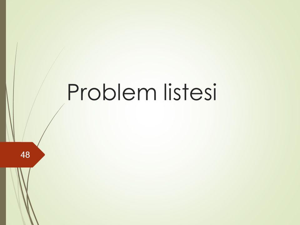Problem listesi 48