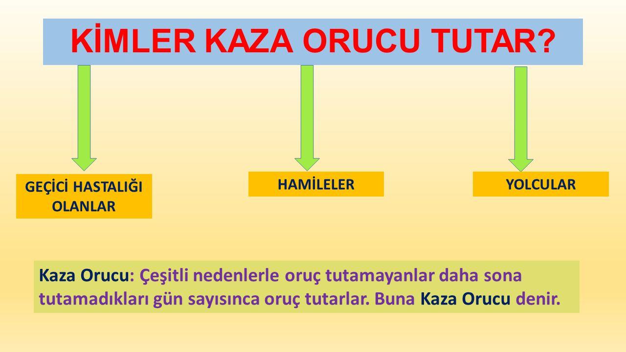 KİMLER KAZA ORUCU TUTAR.