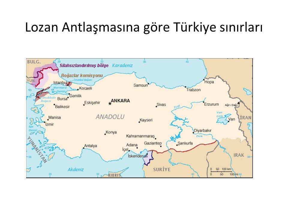 Lozan Antlaşmasına göre Türkiye sınırları