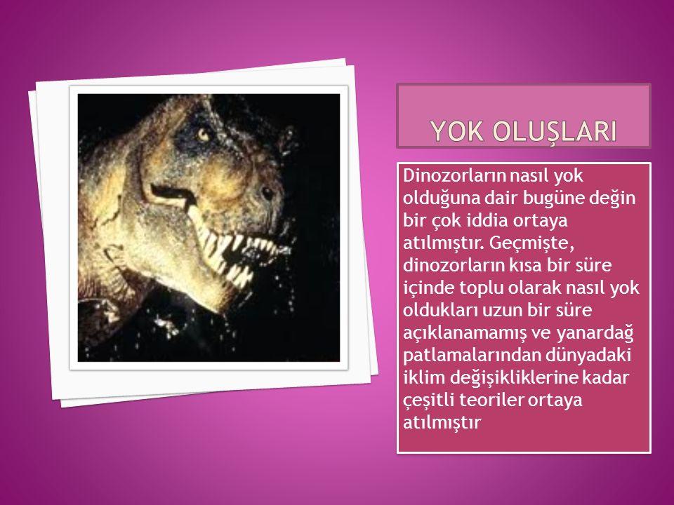Dinozorların nasıl yok olduğuna dair bugüne değin bir çok iddia ortaya atılmıştır.