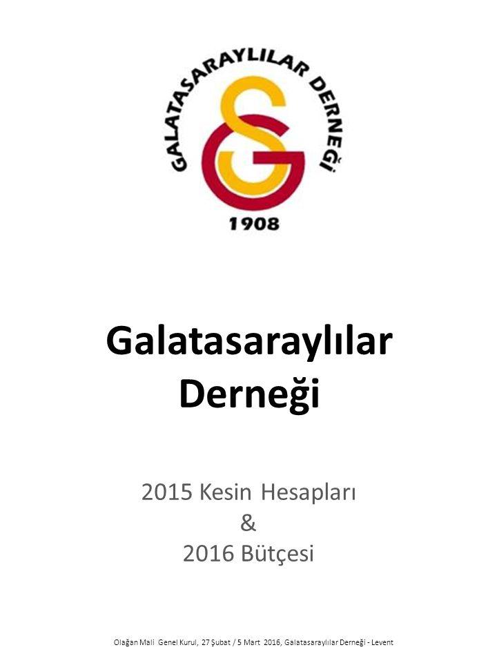 Olağan Mali Genel Kurul, 27 Şubat / 5 Mart 2016, Galatasaraylılar Derneği - Levent Galatasaraylılar Derneği 2015 Kesin Hesapları & 2016 Bütçesi