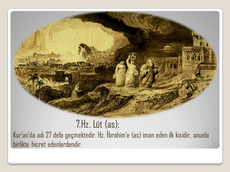 8.Hz.İ smail (as): o Kur'an'da adı 12 defa geçmektedir.