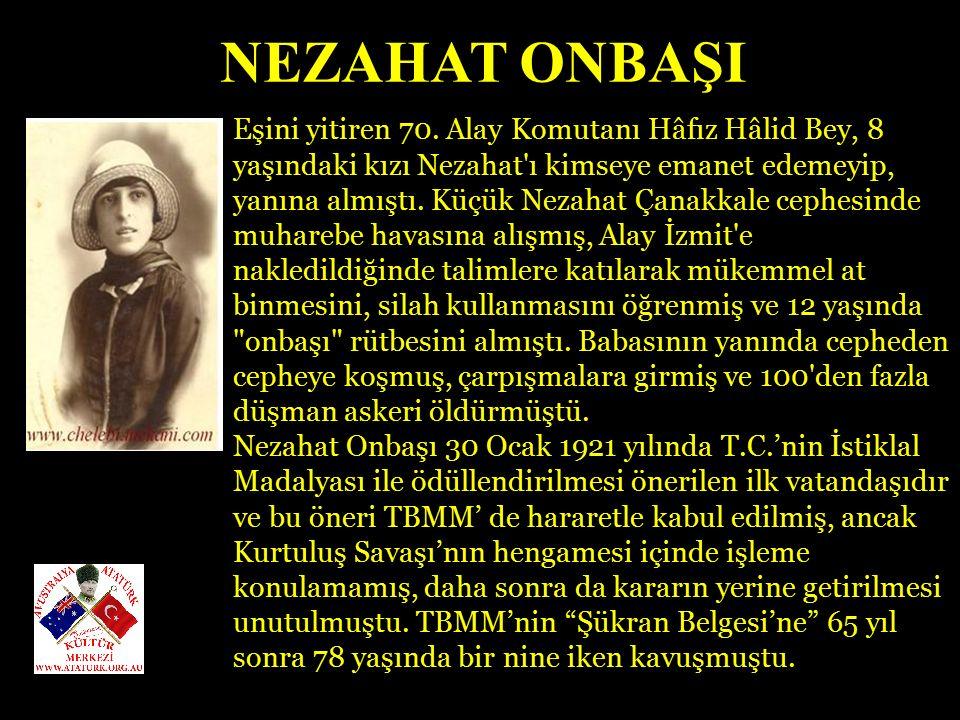 ŞERİFE BACI 1921 yılı Kasım ayında İnebolu ya önemli miktarda savaş malzemesi gelmişti.