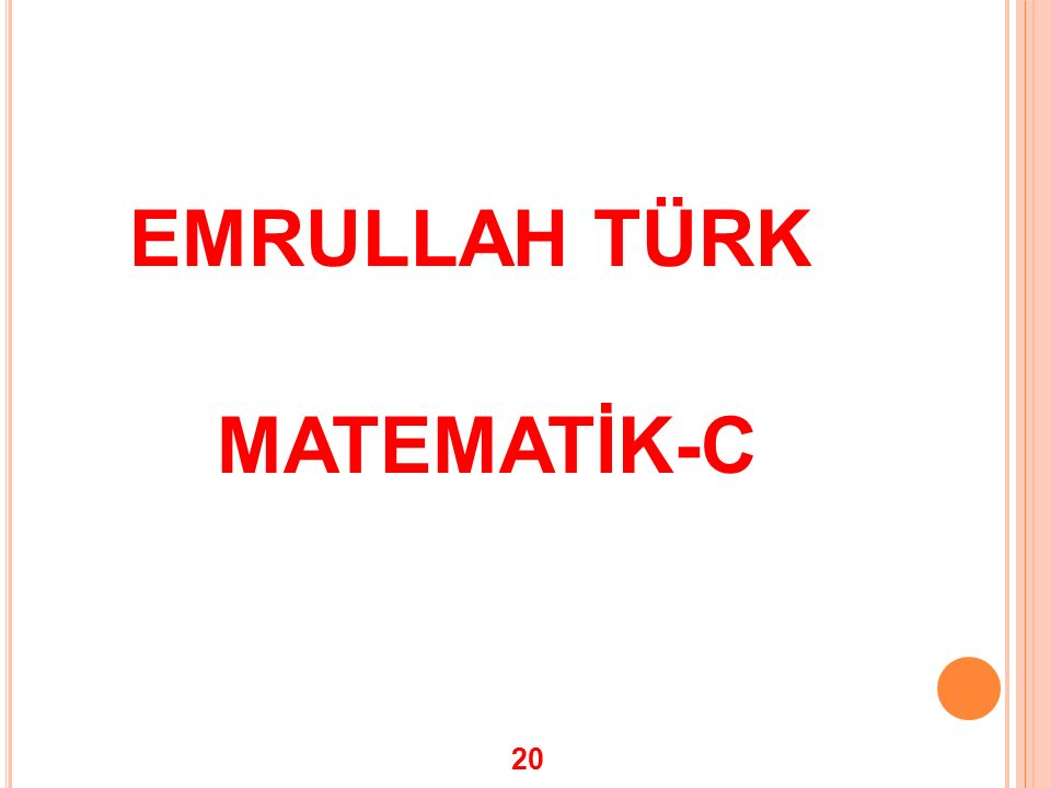 EMRULLAH TÜRK MATEMATİK-C 20