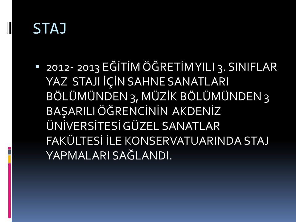 STAJ  2012- 2013 EĞİTİM ÖĞRETİM YILI 3.