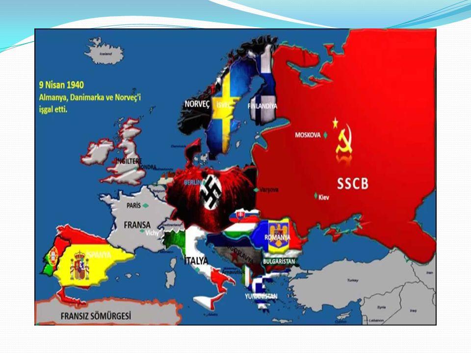 I.Dünya Savaşı'ndan sonra huzursuzluğun artması ve dünya barışını korumak amacıyla kurulan Milletler Cemiyeti'nin görevini yerine getirememesi Japonya'nın Mançurya'yı, İtalya'nın Habeşistan'ı işgal etmesine, Almanya'nın da Rhur Bölgesi'ni silahlandırmasına Milletler Cemiyeti'nin herhangi bir yaptırım uygulayamaması İtalya ve Almanya'nın İspanya'daki iç savaşta cumhuriyetçi yönetime karşı faşist General Francisco Franco'nun Saflarında savaşmak üzere asker göndererek yeni silah ve uçaklarını denemeleri