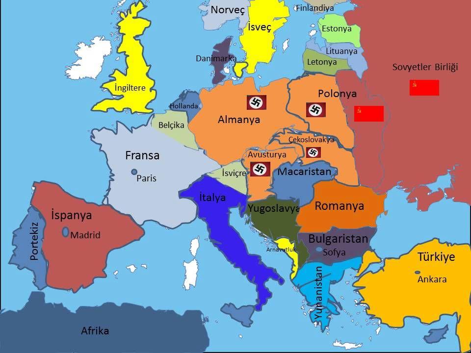 SAVAŞIN TARAFLARI MİHVER DEVLETLERİ Almanya İtalya Japonya MÜTTEFİK DEVLETLERİ İngiltere Fransa ABD SSCB
