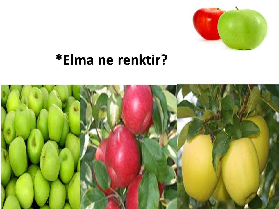 *Elma ne renktir?