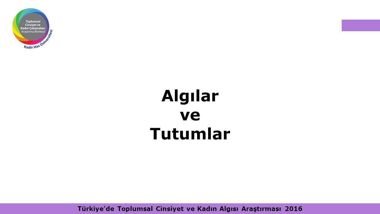 Türkiye'de Toplumsal Cinsiyet ve Kadın Algısı Araştırması 2016 Algılar ve Tutumlar