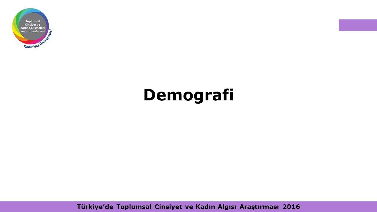 Türkiye'de Toplumsal Cinsiyet ve Kadın Algısı Araştırması 2016 Demografi