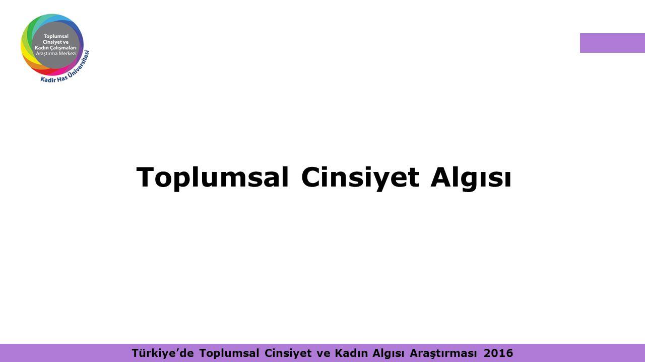 Toplumsal Cinsiyet Algısı Türkiye'de Toplumsal Cinsiyet ve Kadın Algısı Araştırması 2016