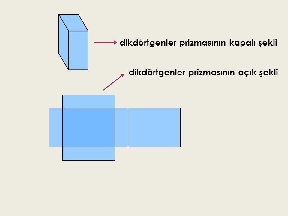 dikdörtgenler prizmasının kapalı şekli dikdörtgenler prizmasının açık şekli