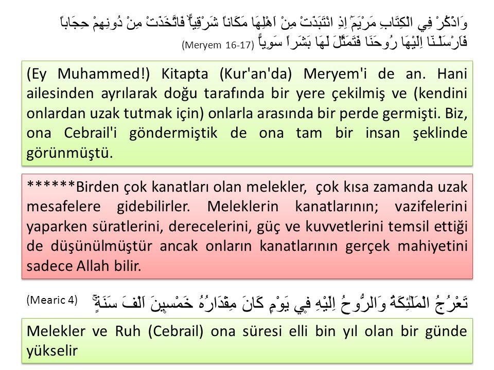 2.MELEKLERİN GÖREVLERİ Meleklerin sayısını ancak Allah bilir.