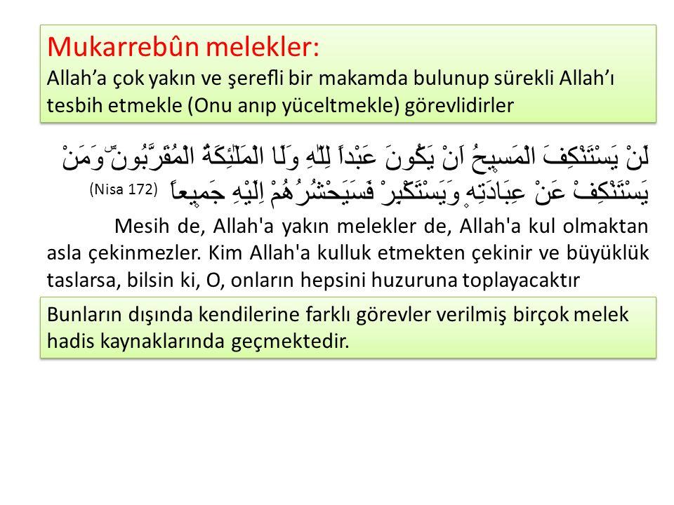 MELEKLERE İMANIN İNSANA KAZANDIRDIKLARI Allah'ın hiçbir şeyi sebepsiz ve gayesiz yaratmadığı Kur'an'da ifade edilmiştir.