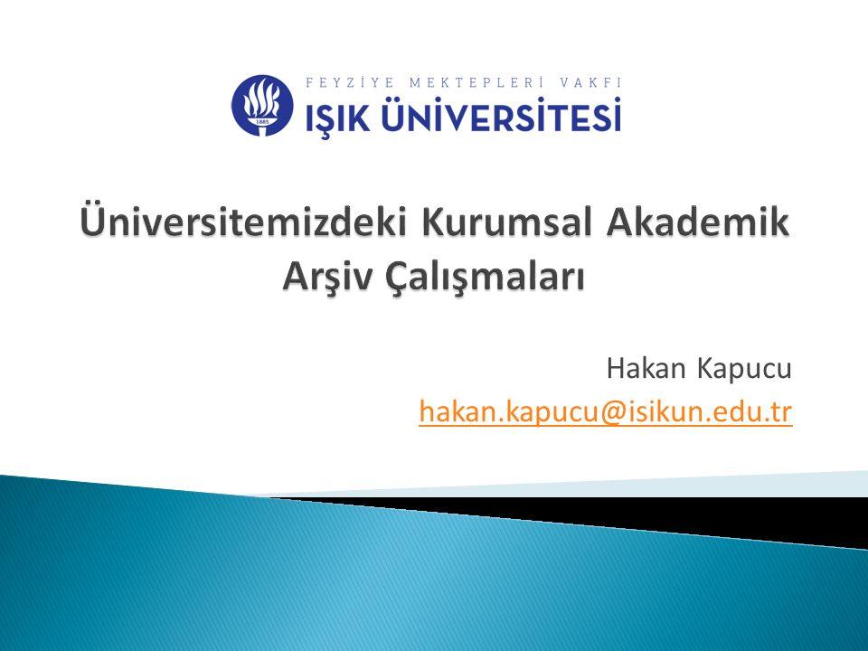  Kurumsal Akademik Arşiv Danışma Kurulu oluşturulmuştur.