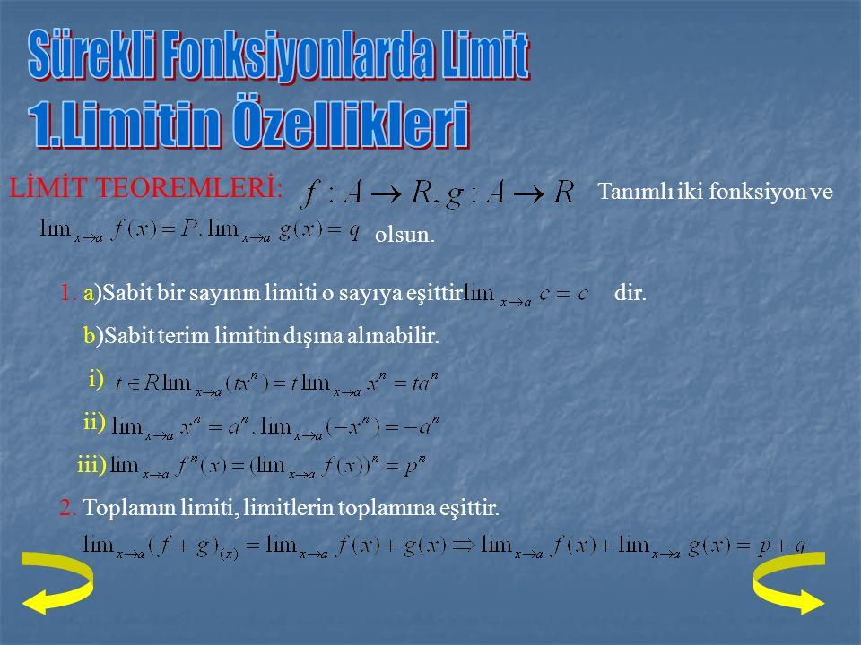ÇÖZÜM: Önce fonksiyonu 2'nin sağ tarafındaki değerini bulalım. X -2 2 x 2 - 4 + - + 2-x + + -