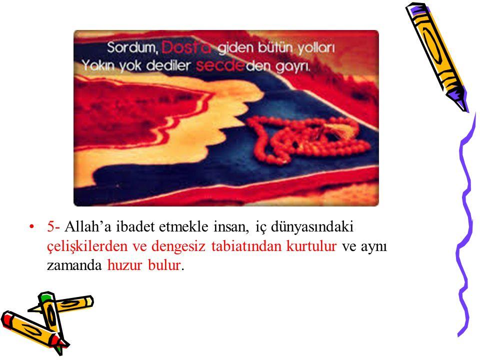 Kur'an-ı Kerim'de şöyle buyrulur: اَلَّذينَ اٰمَنُوا وَتَطْمَئِنُّ قُلُوبُهُمْ بِذِكْرِ اللّٰهِ اَلَا بِذِكْرِ اللّٰهِ تَطْمَئِنُّ الْقُلُوبُ ''Bunlar, iman edenler ve Allah'ı zikrederek gönülleri huzura kavuşanlardır.