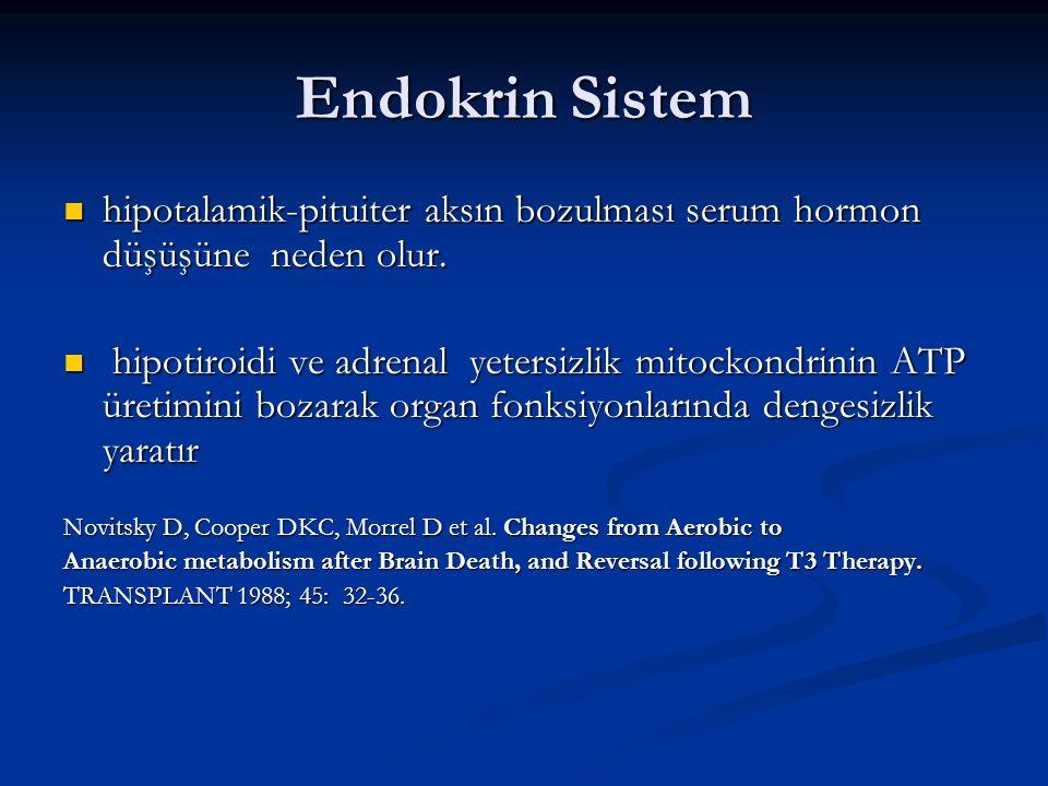 Endokrin Sistem hipotalamik-pituiter aksın bozulması serum hormon düşüşüne neden olur. hipotalamik-pituiter aksın bozulması serum hormon düşüşüne nede