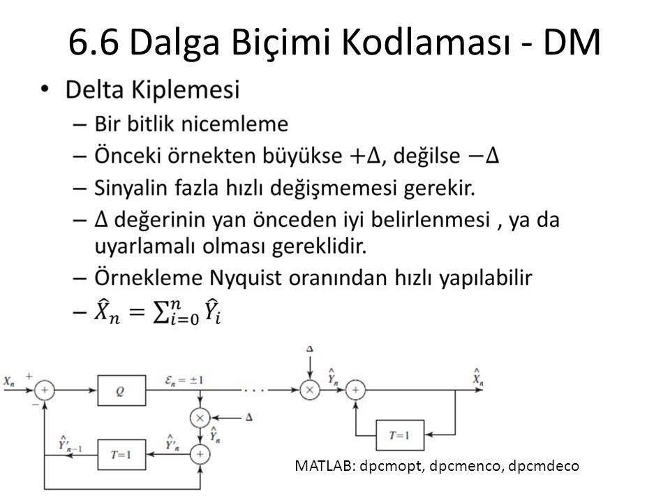 6.6 Dalga Biçimi Kodlaması - DM MATLAB: dpcmopt, dpcmenco, dpcmdeco