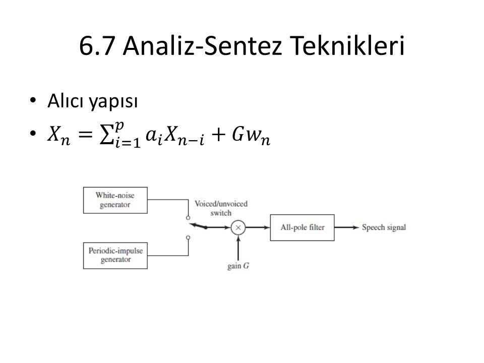 6.7 Analiz-Sentez Teknikleri