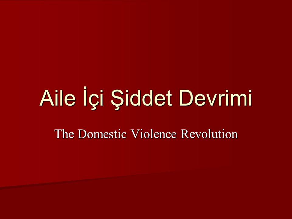 The Domestic Violence Revolution Aile İçi Şiddet Devrimi