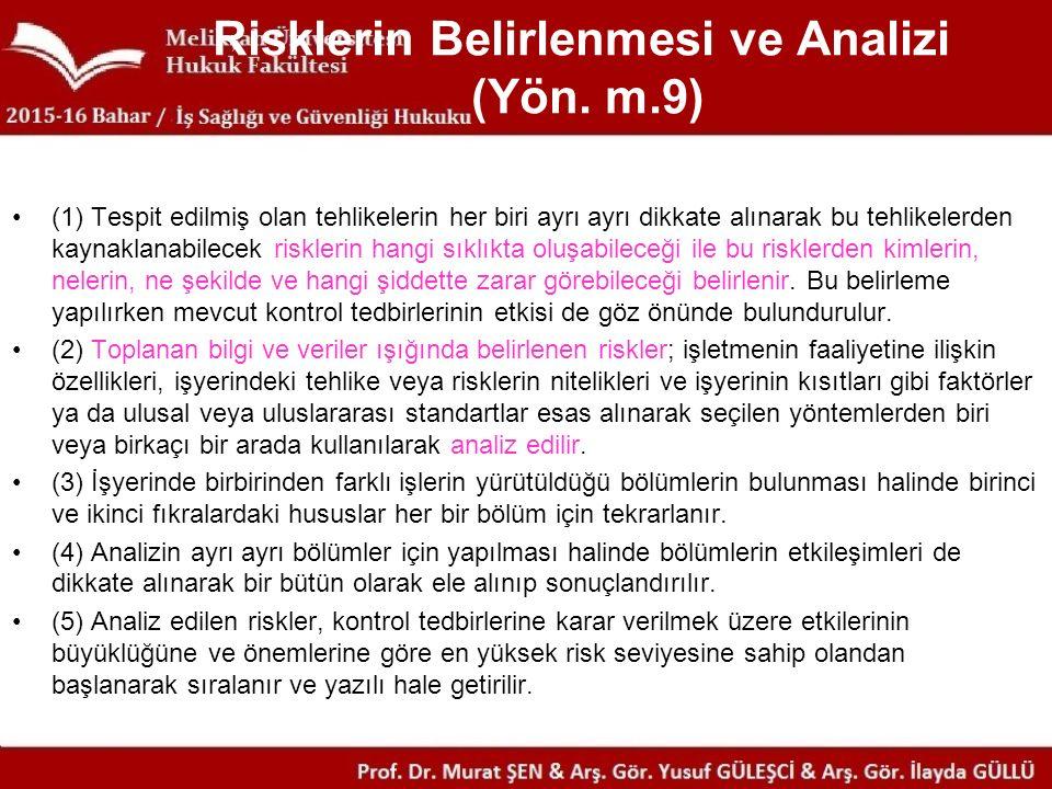 Risklerin Belirlenmesi ve Analizi (Yön.