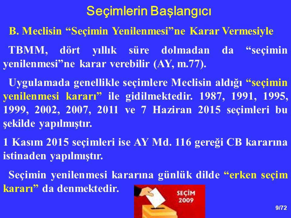 40/72 Milletvekilliği Sıfatının Kazanılması Anayasamız, milletvekilliliği sıfatının seçimle kazanılacağını öngörmektedir (m.75).