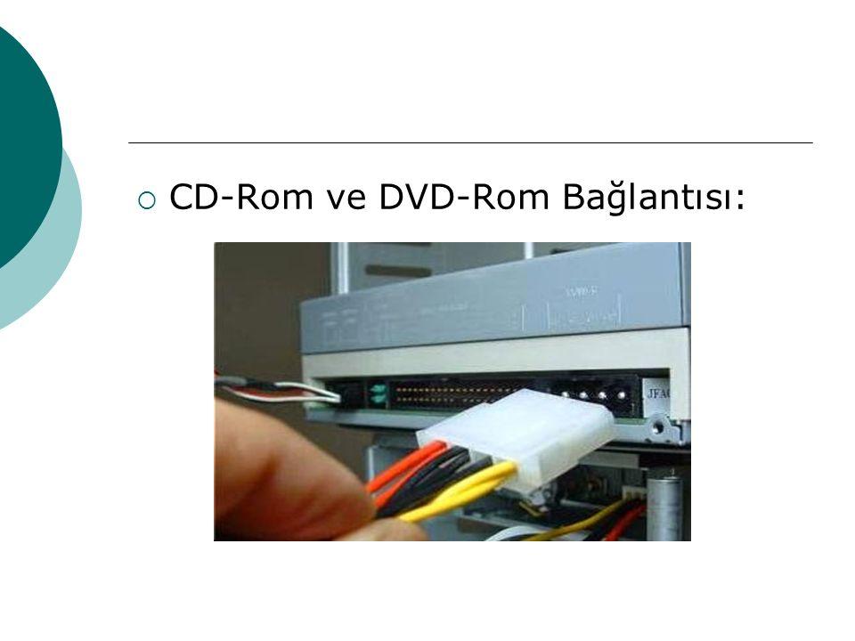  CD-Rom ve DVD-Rom Bağlantısı: