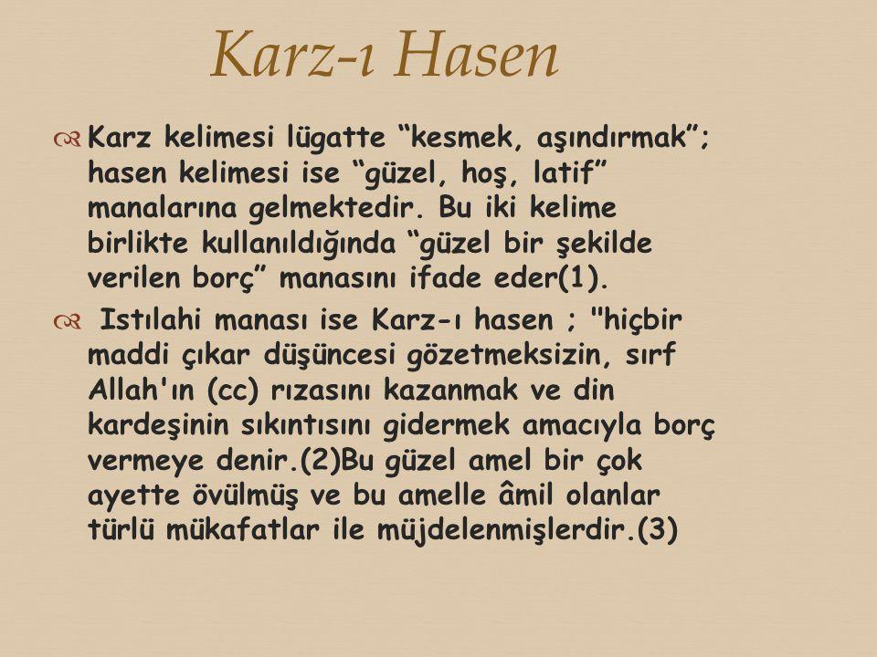  Faiz yiyenleri Kur an-ı Kerim şiddetle kınamaktadır.
