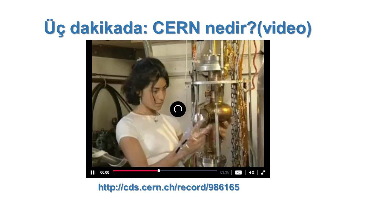Üç dakikada: CERN nedir?(video) http://cds.cern.ch/record/986165