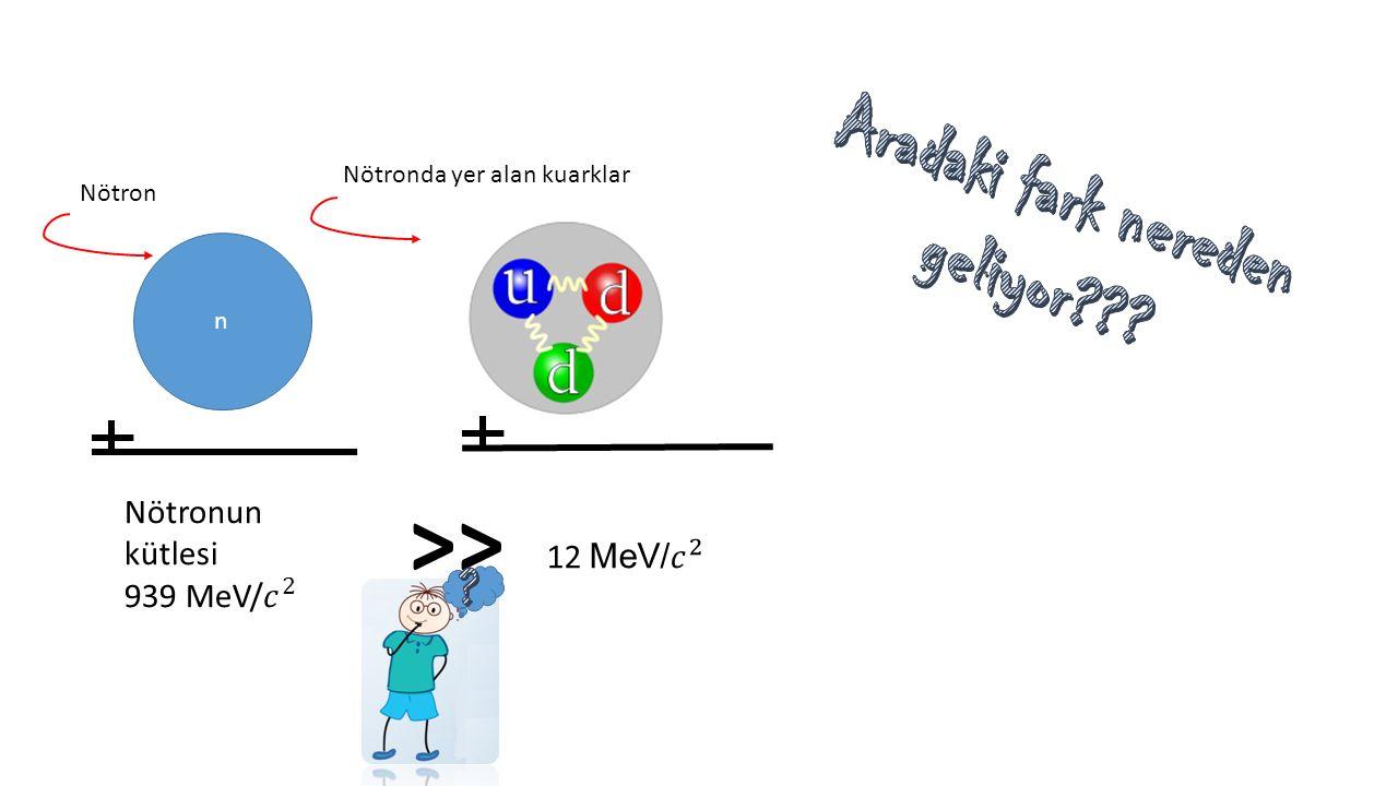 n Nötron Nötronda yer alan kuarklar >>