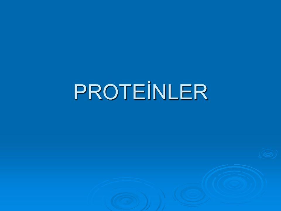  Proteinlerin çeşitli olmasını ne sağlar.