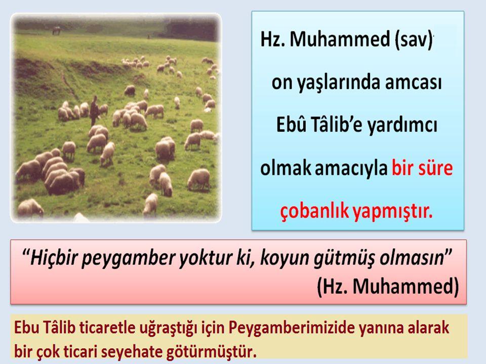 Peygamberimizin hayatının 8 yaşından 25 yaşına kadar olan dönemini amcası Ebû Tâlib in yanında, onun himayesinde geçirmiştir.