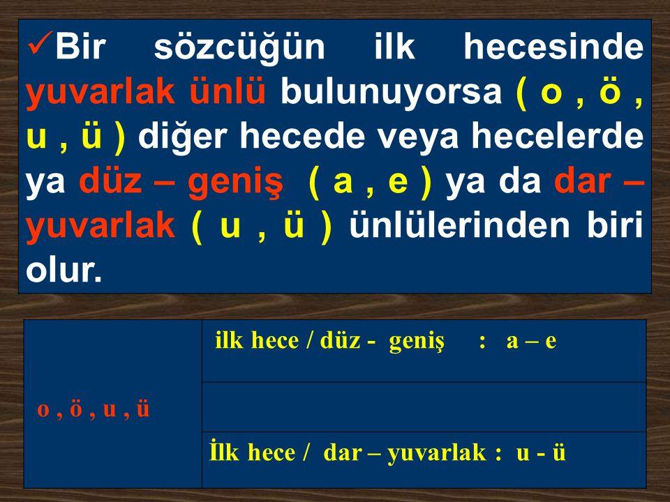 ÜNSÜZ DÜŞMESİ Sonu k ile biten bazı sözcükler küçültme eki (-cik, -cek) aldıkların- da k sesi dü ş er.
