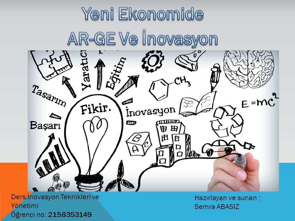 Ders:İnovasyon Teknikleri ve Yönetimi Öğrenci no: 2158353149 Hazırlayan ve sunan ; Semra ABASIZ