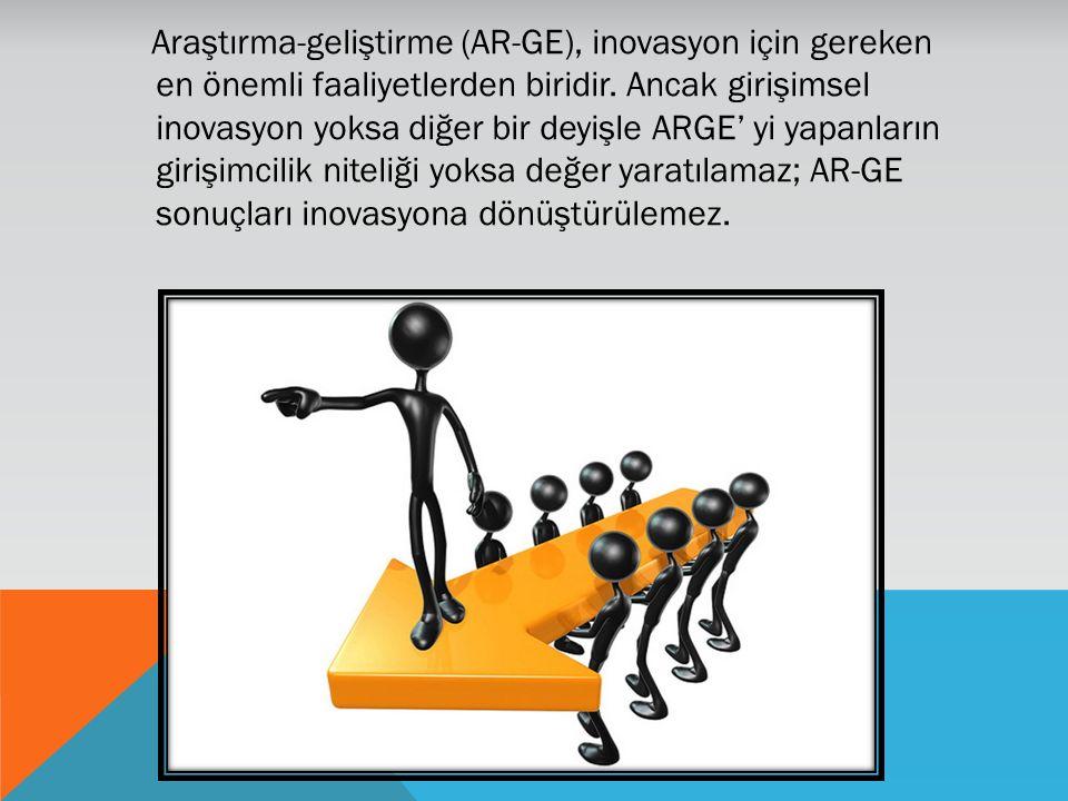 Araştırma-geliştirme (AR-GE), inovasyon için gereken en önemli faaliyetlerden biridir. Ancak girişimsel inovasyon yoksa diğer bir deyişle ARGE' yi yap