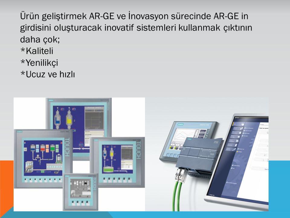 Ürün geliştirmek AR-GE ve İnovasyon sürecinde AR-GE in girdisini oluşturacak inovatif sistemleri kullanmak çıktının daha çok; *Kaliteli *Yenilikçi *Uc