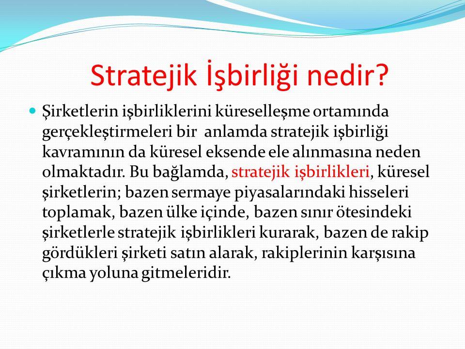 Stratejik İşbirliği nedir.