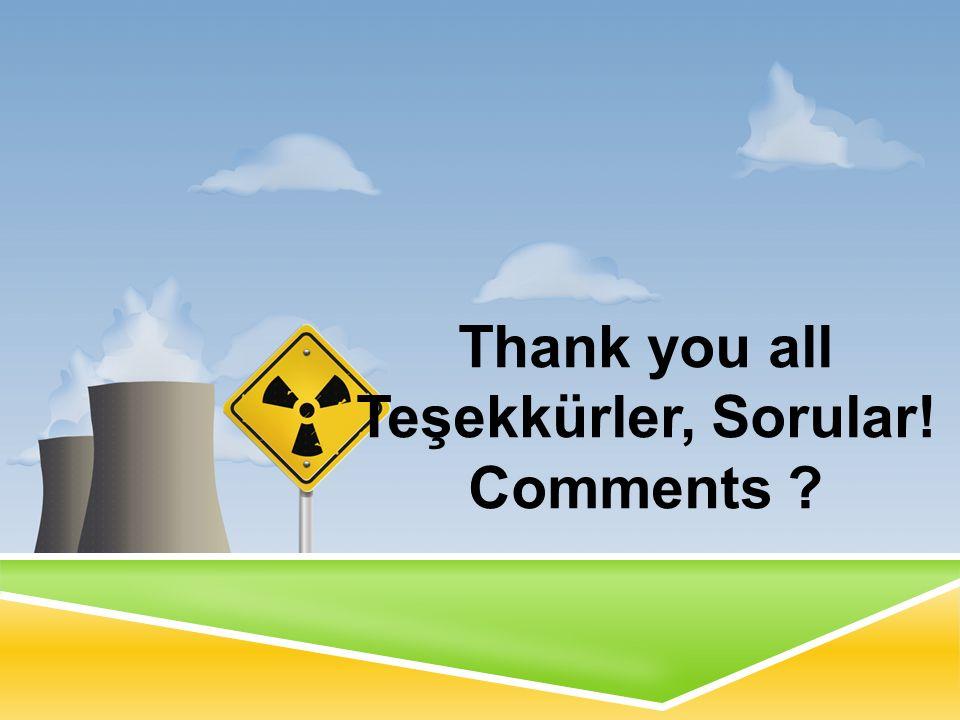 Thank you all Teşekkürler, Sorular! Comments ?