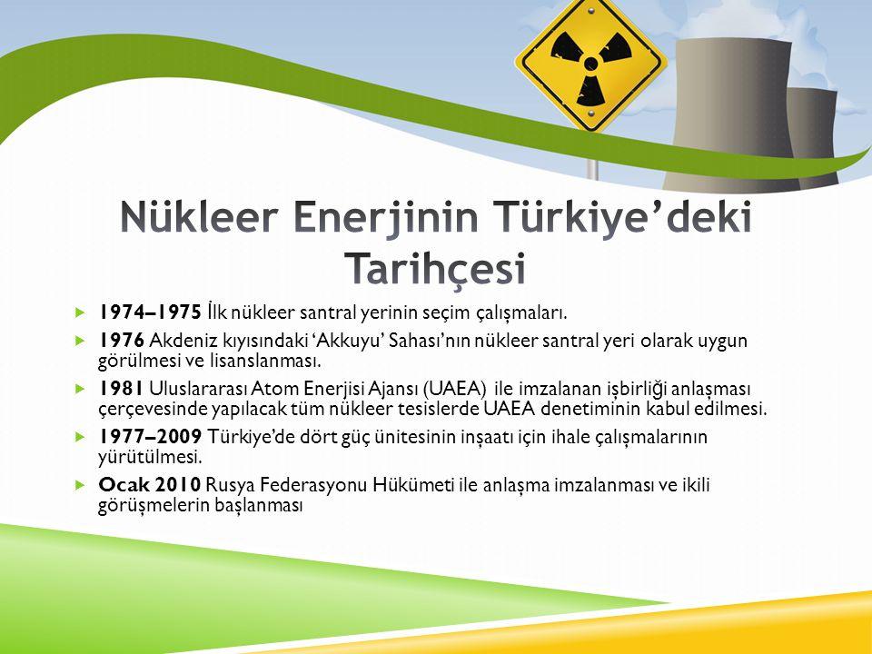  1974–1975 İ lk nükleer santral yerinin seçim çalışmaları.