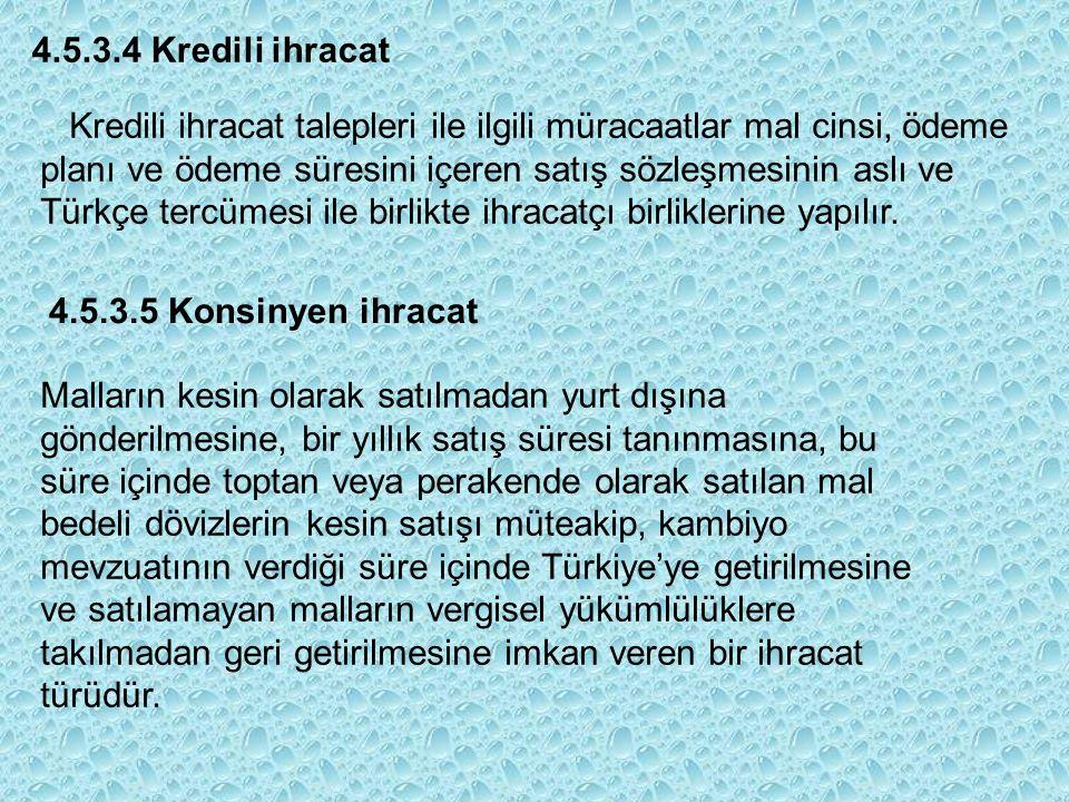 Kredili ihracat talepleri ile ilgili müracaatlar mal cinsi, ödeme planı ve ödeme süresini içeren satış sözleşmesinin aslı ve Türkçe tercümesi ile birlikte ihracatçı birliklerine yapılır.