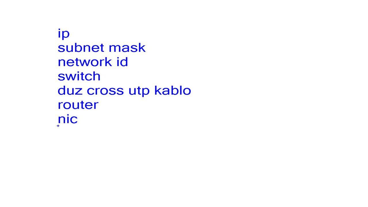 Nslookup komutu Verilen isme karşılık ipleri listelemek için kullanılır veya ip sine karşı gelen ismi de bulmaya yarar.