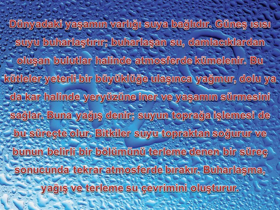 Güneşin ısısı deniz suyunun yüzeyinde buharlaşmaya neden olur ve su buharlaşıp öbür mineraller kalır ve bu mineraller alttaki suya karışır. Denizlerin