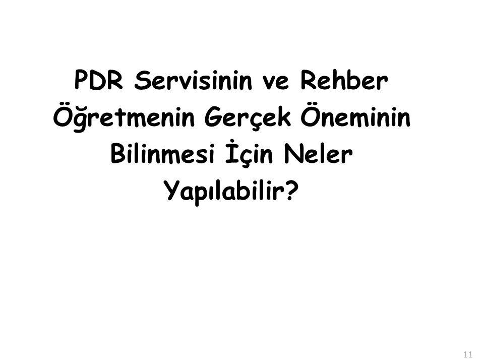 PDR Servisinin ve Rehber Öğretmenin Gerçek Öneminin Bilinmesi İçin Neler Yapılabilir 11